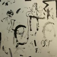 »Fragmente – schwebend« (décalcomanische Zeichnung), 2007