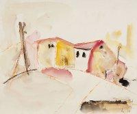 Häuser, 2004, Aquarell