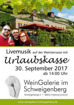 Urlaubskasse Plakat Weingalerie kl