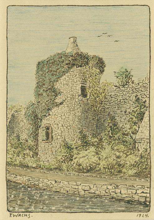 Freyburger Stadtmauer mit Turm, 1924